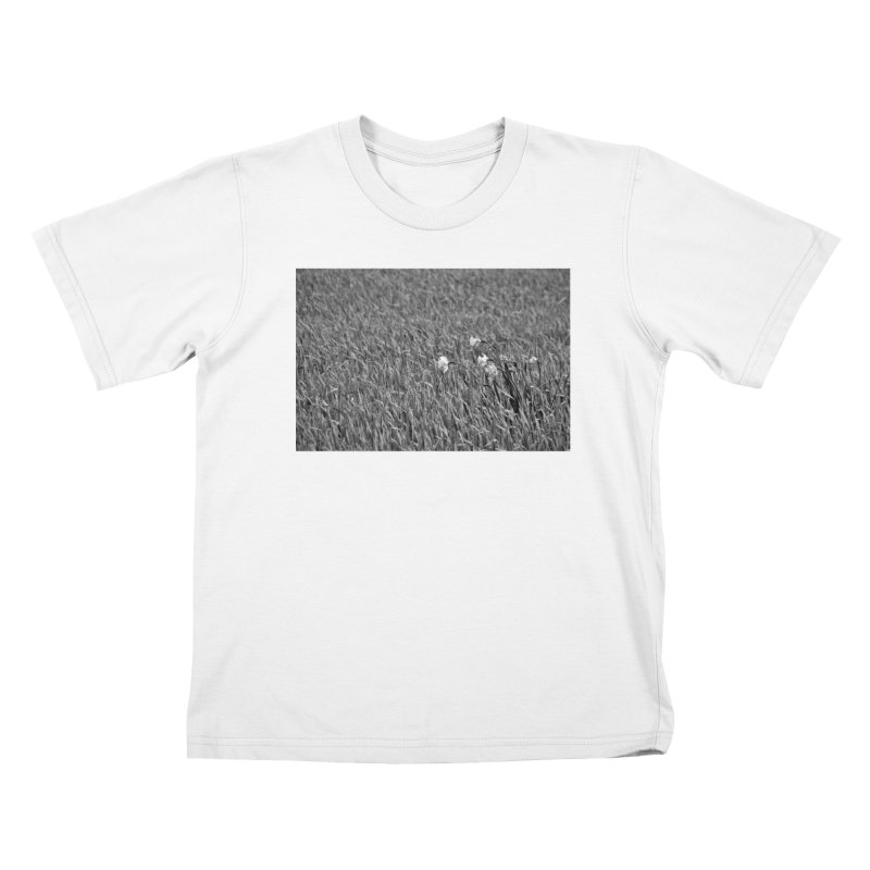 Grayscale field Kids T-shirt by Soulstone's Artist Shop