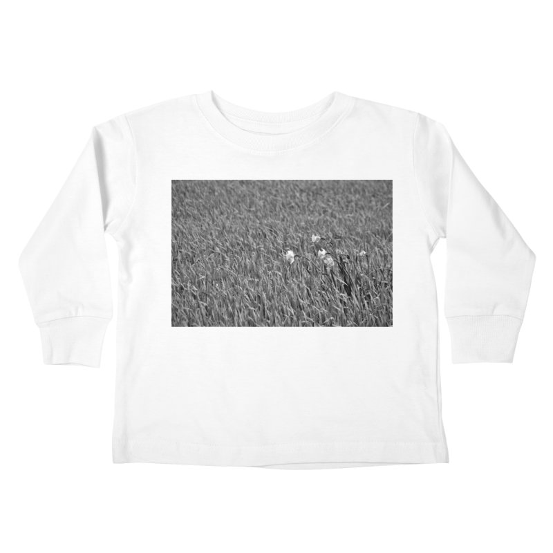 Grayscale field Kids Toddler Longsleeve T-Shirt by Soulstone's Artist Shop