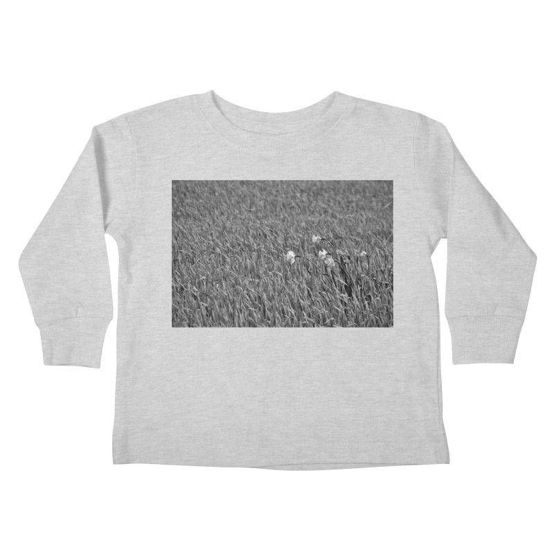 Grayscale field Kids Toddler Longsleeve T-Shirt by Soulstone's Artist Shop