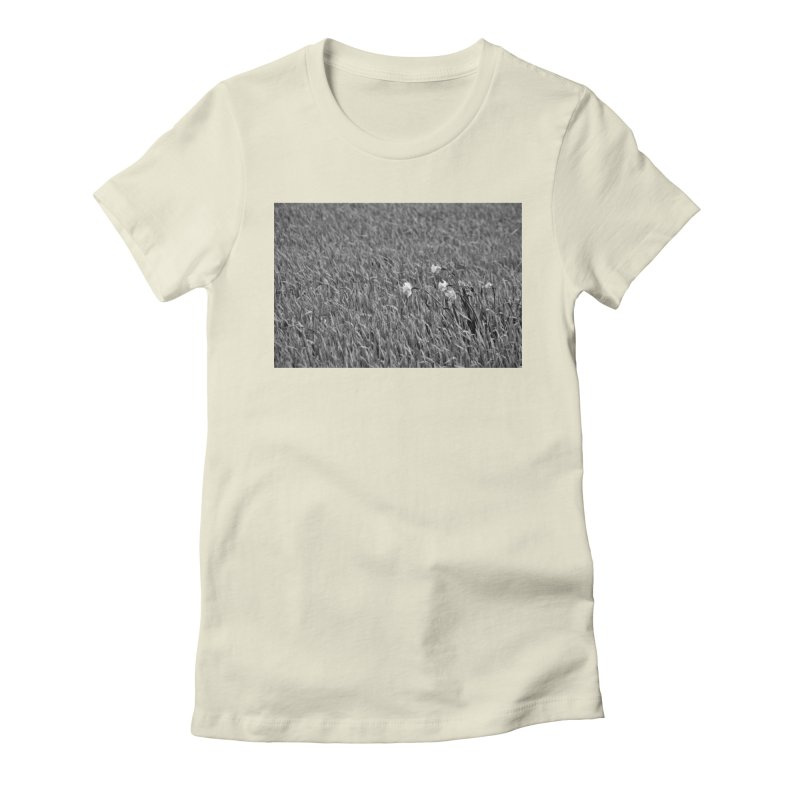 Grayscale field Women's Fitted T-Shirt by Soulstone's Artist Shop