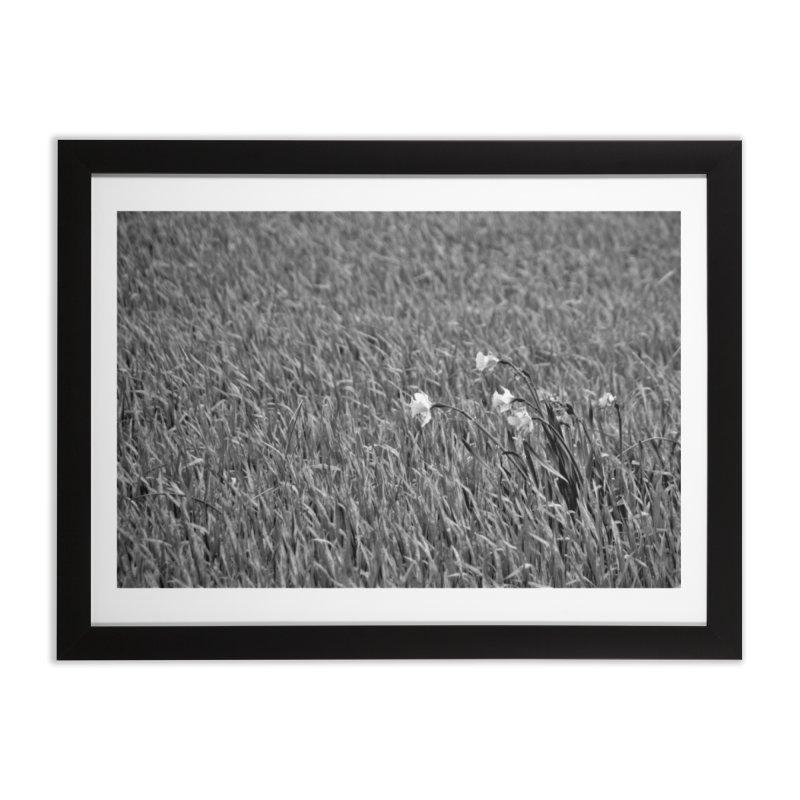 Grayscale field Home Framed Fine Art Print by Soulstone's Artist Shop