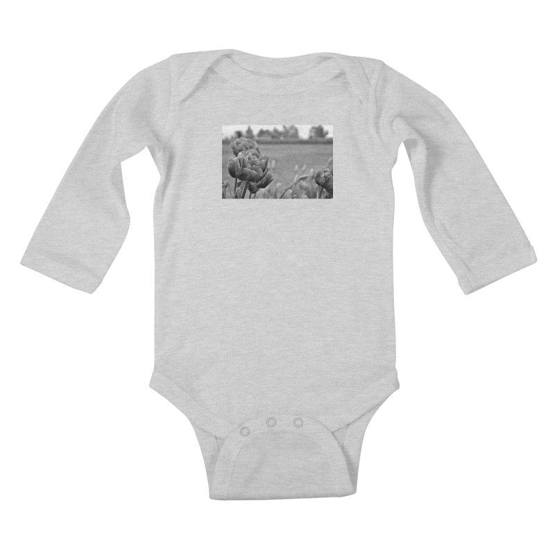 Pink grayscale Kids Baby Longsleeve Bodysuit by Soulstone's Artist Shop