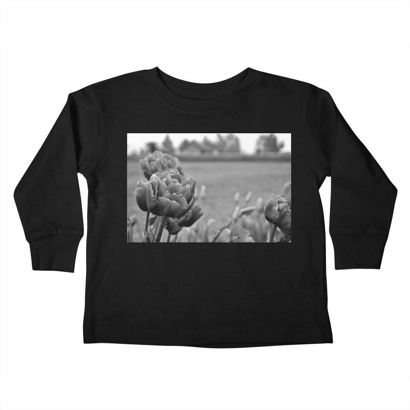 Pink grayscale Kids Toddler Longsleeve T-Shirt by Soulstone's Artist Shop
