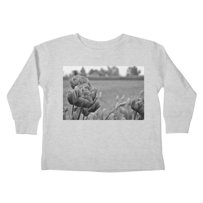 Pink grayscale Kids Toddler Longsleeve T-Shirt by Soulstone's Artist Shop