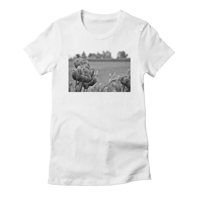 Pink grayscale Women's Fitted T-Shirt by Soulstone's Artist Shop