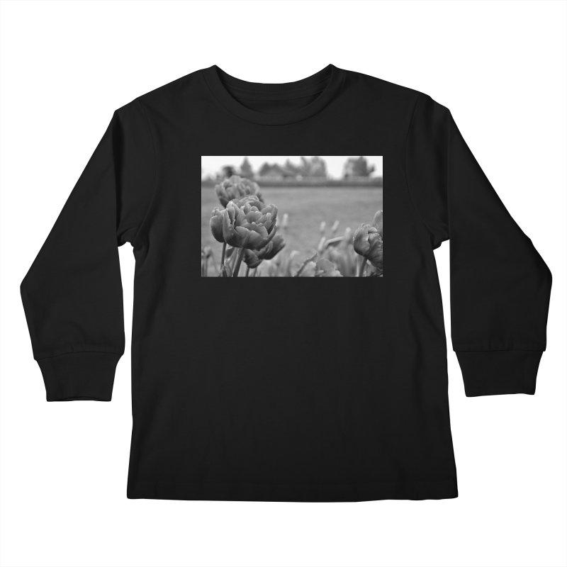Pink grayscale Kids Longsleeve T-Shirt by Soulstone's Artist Shop