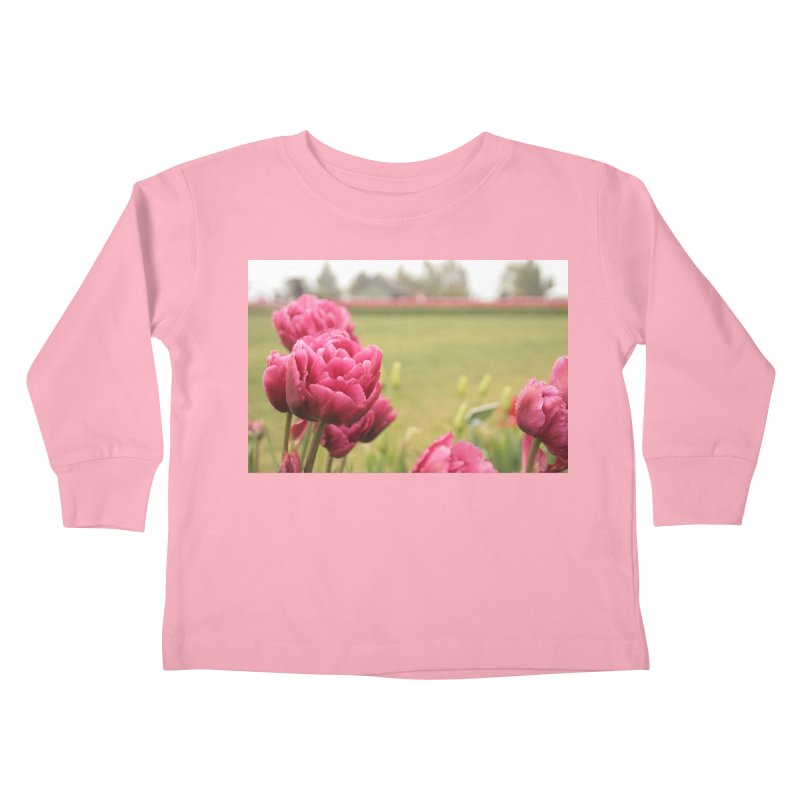 Pink petaled Kids Toddler Longsleeve T-Shirt by Soulstone's Artist Shop
