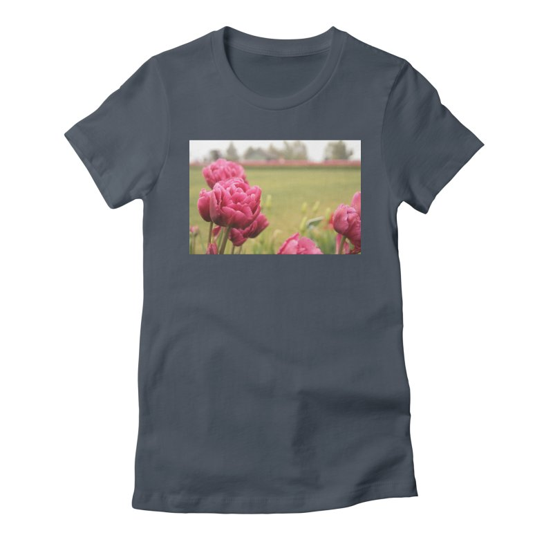Pink petaled Women's Fitted T-Shirt by Soulstone's Artist Shop