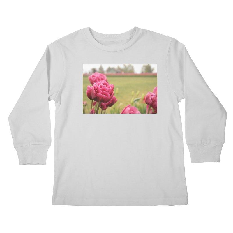 Pink petaled Kids Longsleeve T-Shirt by Soulstone's Artist Shop