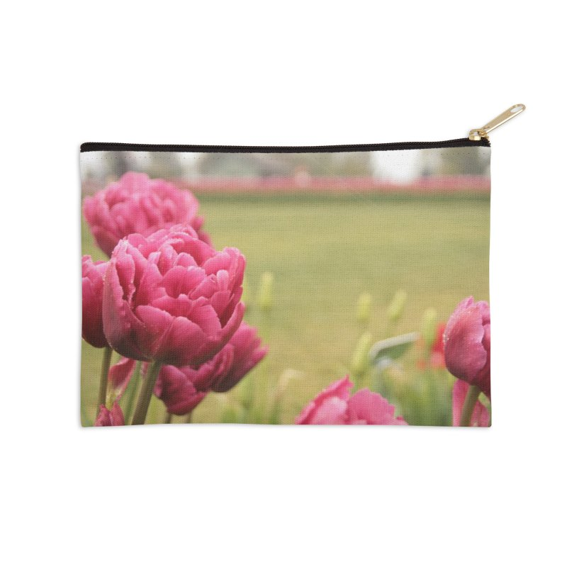 Pink petaled Accessories Zip Pouch by Soulstone's Artist Shop