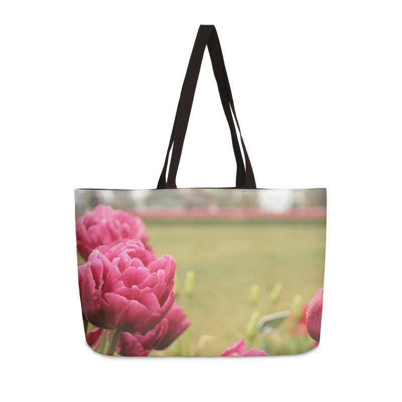 Pink petaled Accessories Bag by Soulstone's Artist Shop