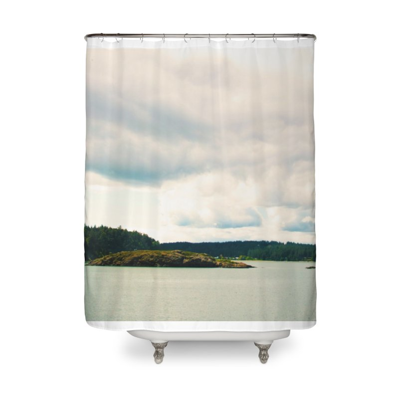 Border Waterscape Home Shower Curtain by Soulstone's Artist Shop
