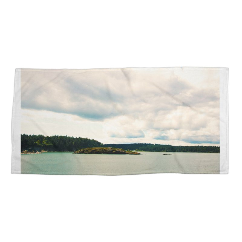 Border Waterscape Accessories Beach Towel by Soulstone's Artist Shop