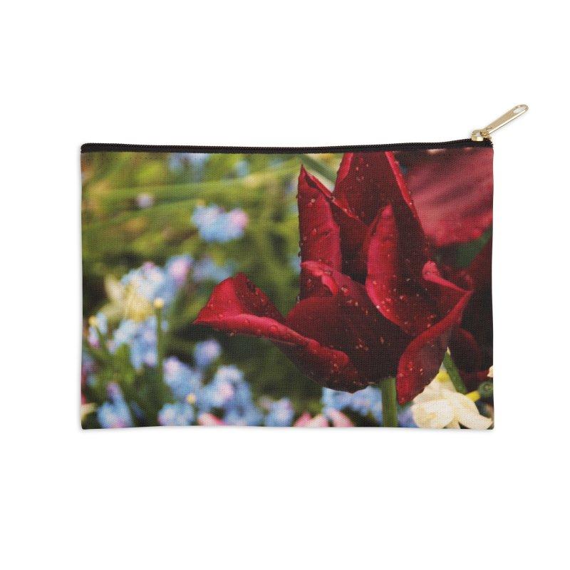 Red droplets Accessories Zip Pouch by Soulstone's Artist Shop