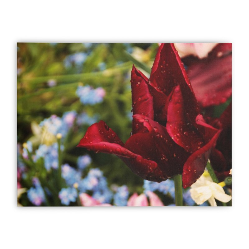 Red droplets Home Stretched Canvas by Soulstone's Artist Shop
