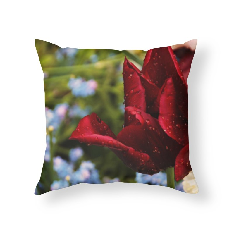 Red droplets Home Throw Pillow by Soulstone's Artist Shop