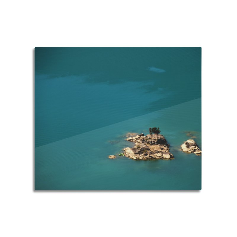 Island Home Mounted Aluminum Print by Soulstone's Artist Shop
