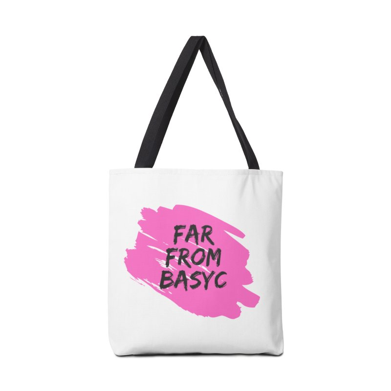 Far From It Pink Accessories Tote Bag Bag by Far From Basyc