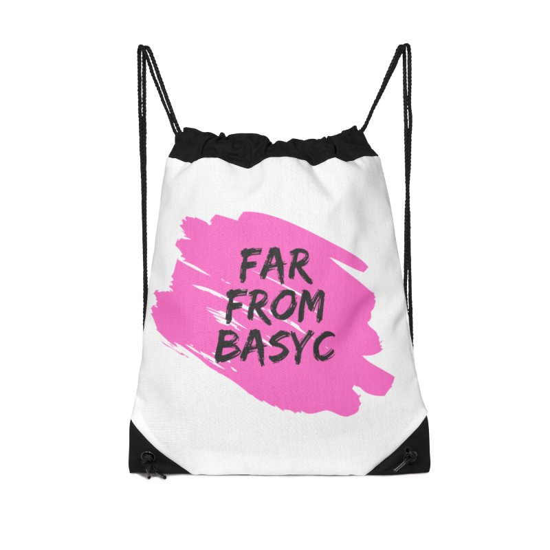 Far From It Pink Accessories Drawstring Bag Bag by Far From Basyc