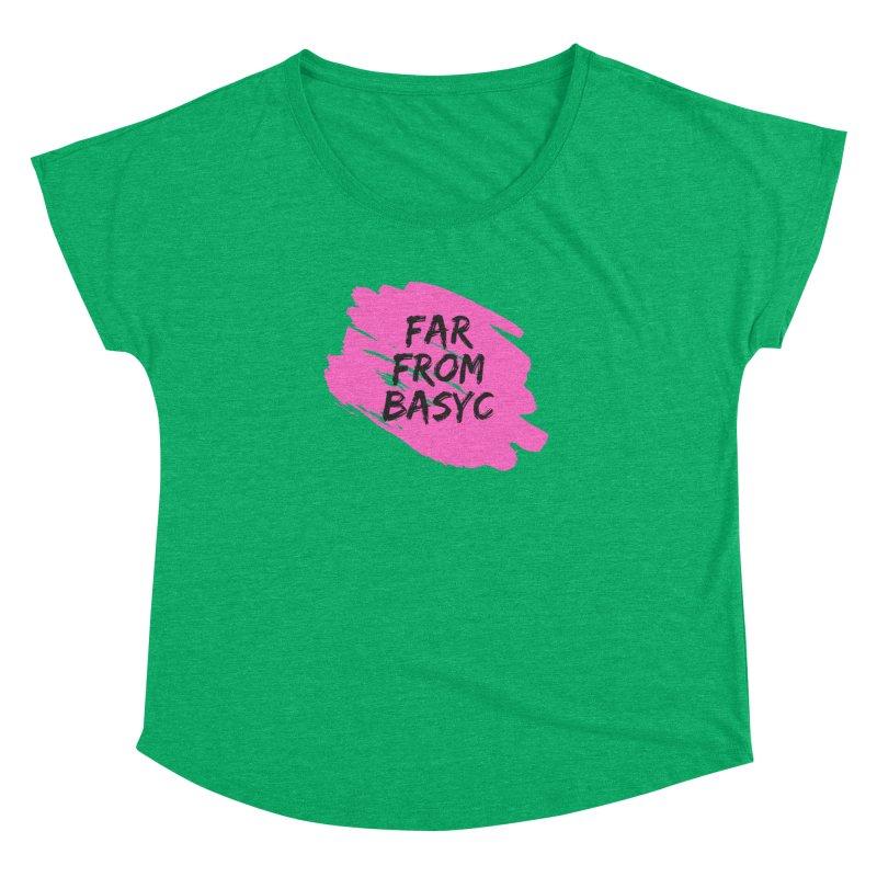 Far From It Pink Women's Dolman Scoop Neck by Far From Basyc