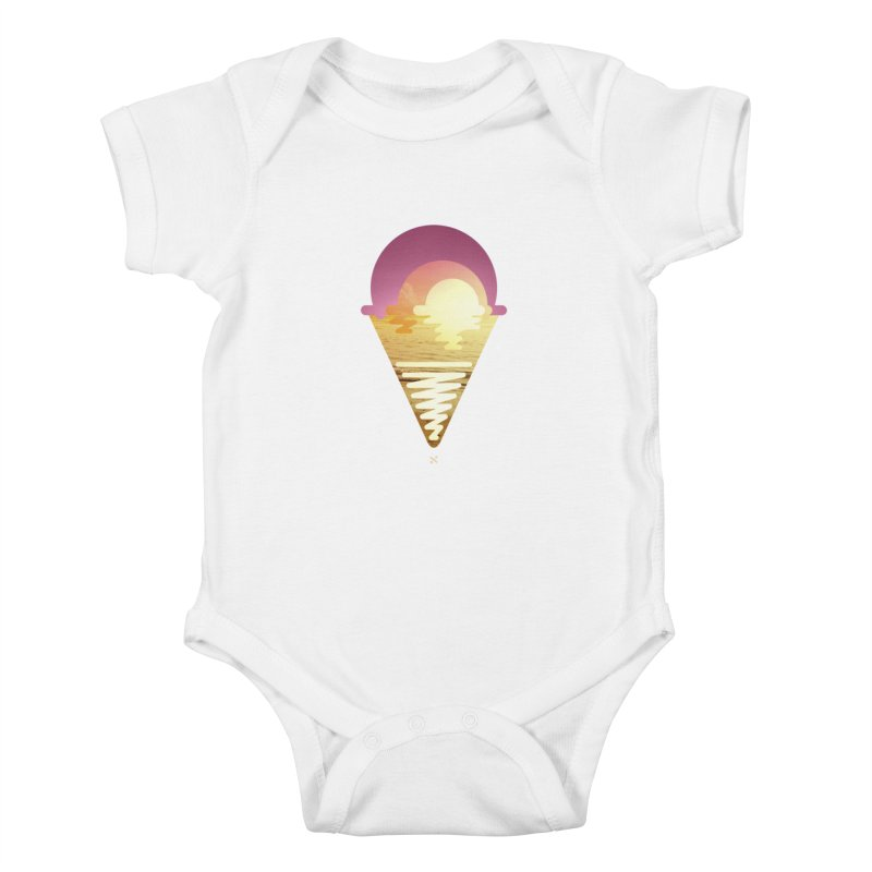 Sherbert Sunset Kids Baby Bodysuit by Sam Arias