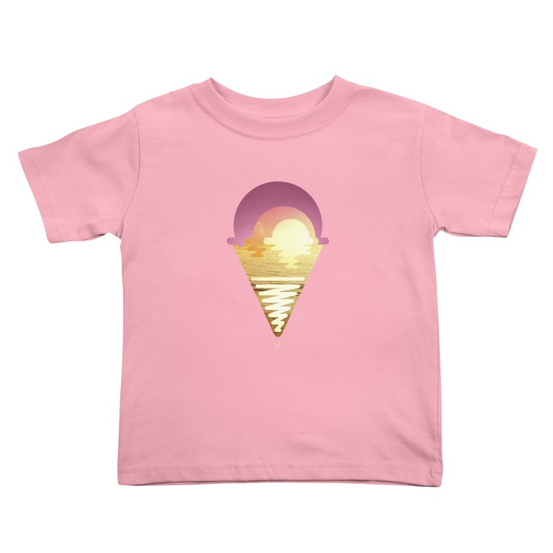 Sherbert Sunset Kids Toddler T-Shirt by Sam Arias