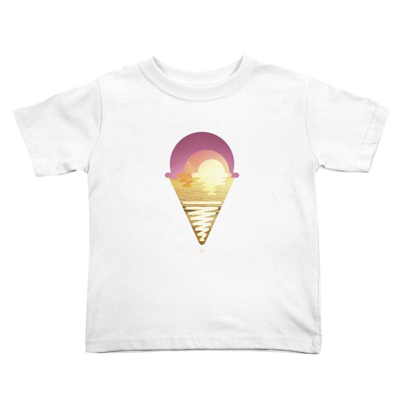 Sherbert Sunset Kids Toddler T-Shirt by Sam Arias