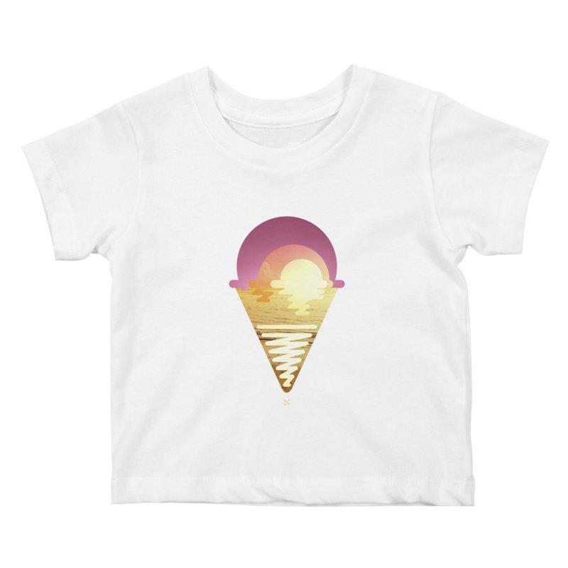 Sherbert Sunset Kids Baby T-Shirt by Sam Arias