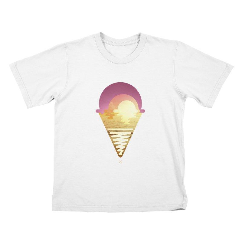 Sherbert Sunset Kids T-shirt by Sam Arias