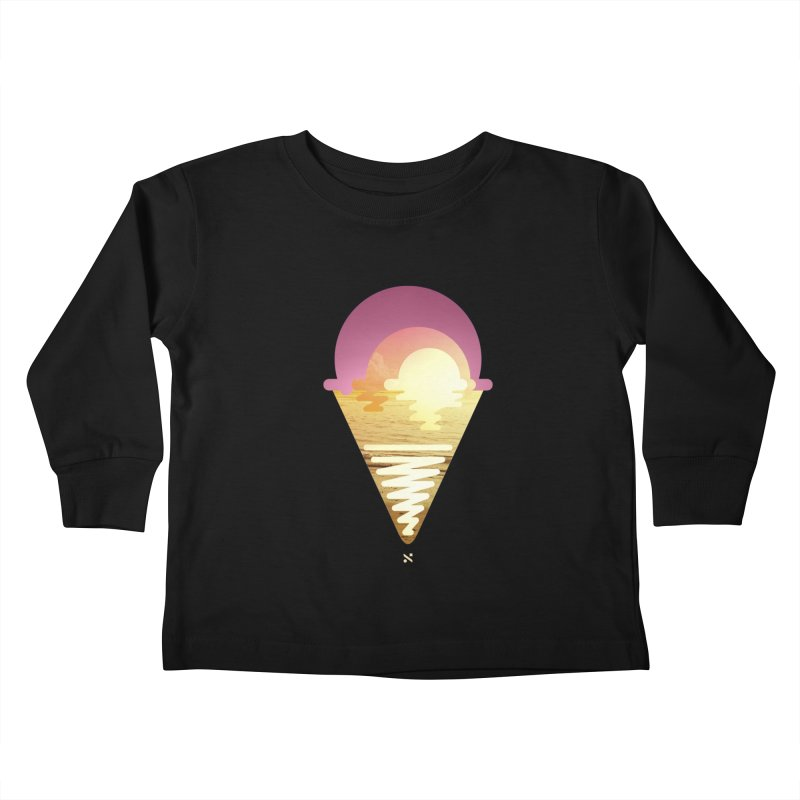 Sherbert Sunset Kids Toddler Longsleeve T-Shirt by Sam Arias