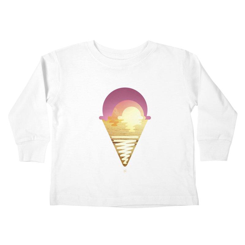 Sherbert Sunset Kids Toddler Longsleeve T-Shirt by Sam Arias