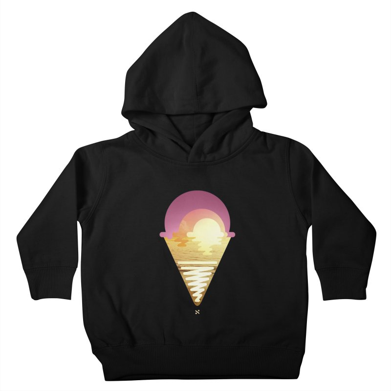 Sherbert Sunset Kids Toddler Pullover Hoody by Sam Arias