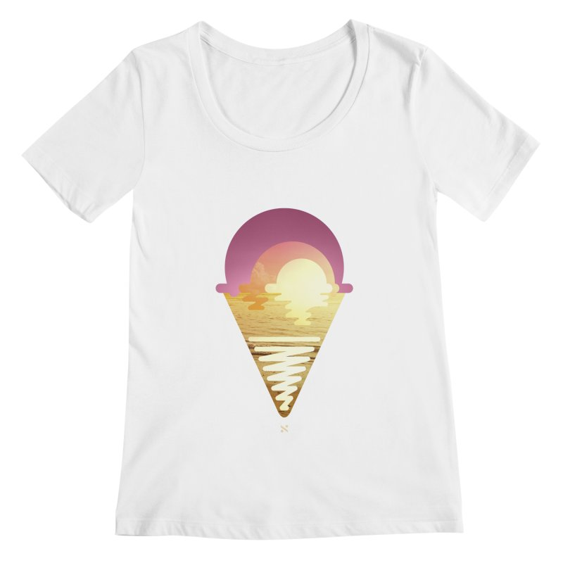 Sherbert Sunset Women's Scoopneck by Sam Arias