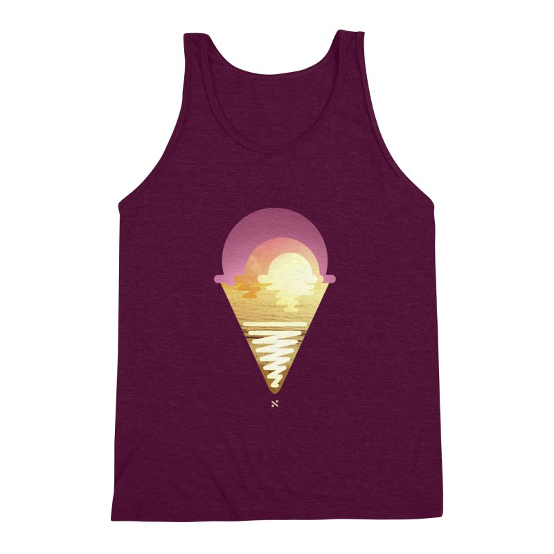 Sherbert Sunset Men's Triblend Tank by Sam Arias