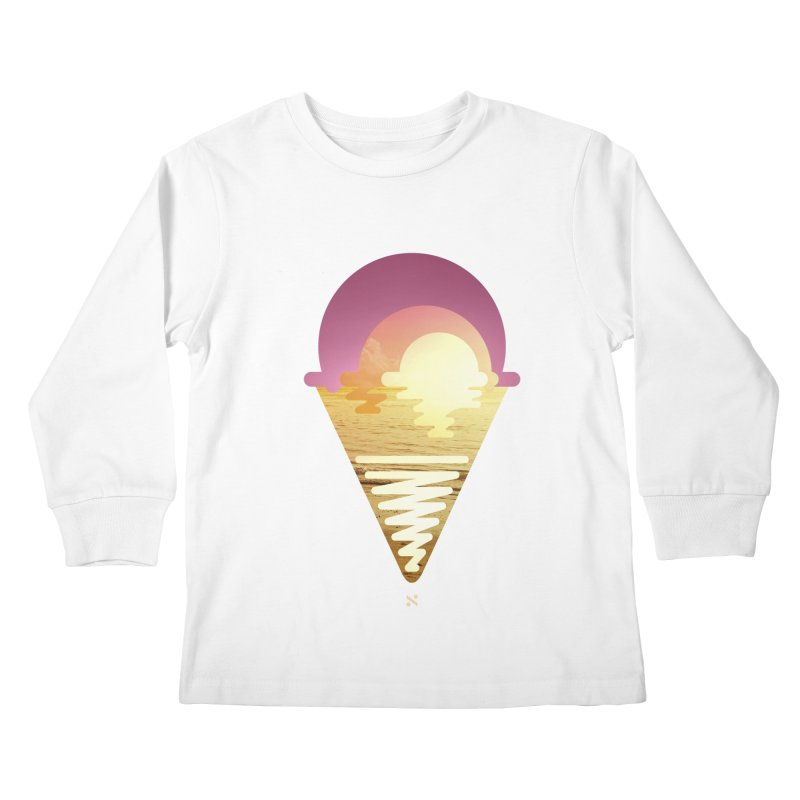 Sherbert Sunset Kids Longsleeve T-Shirt by Sam Arias