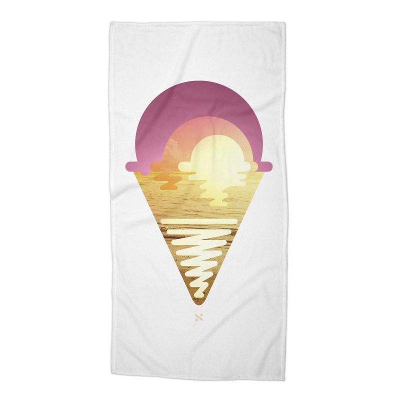Sherbert Sunset Accessories Beach Towel by Sam Arias