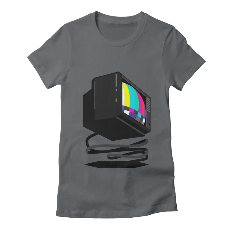 TeeVeeHedron (Error Signal) Women's Fitted T-Shirt by Sam Arias