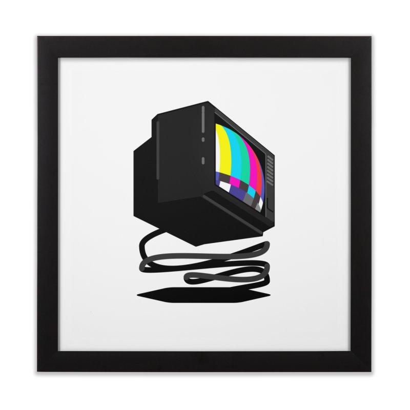 TeeVeeHedron (Error Signal) Home Framed Fine Art Print by Sam Arias