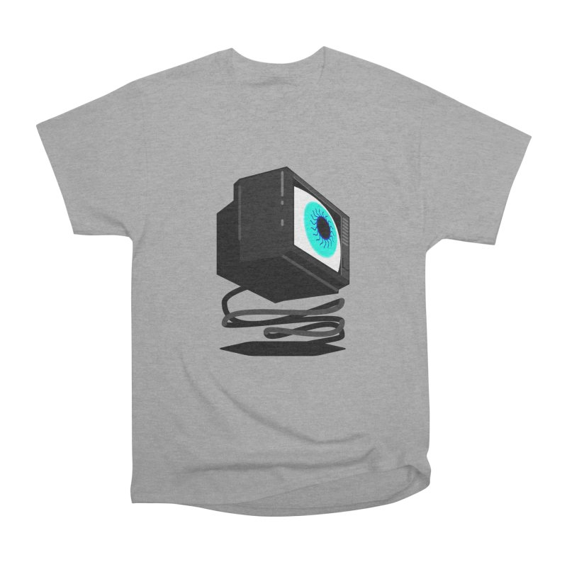 TeeVeeHedron (Staring) Men's Heavyweight T-Shirt by Sam Arias