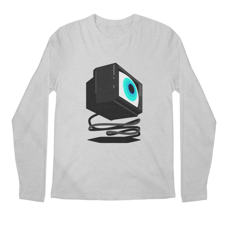 TeeVeeHedron (Staring) Men's Longsleeve T-Shirt by Sam Arias