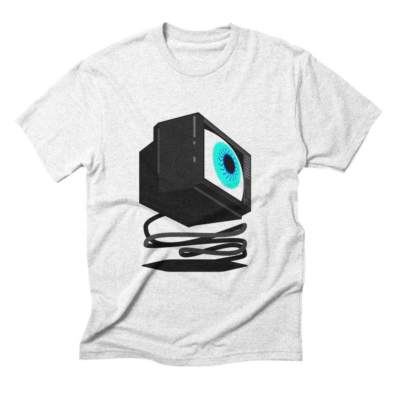 TeeVeeHedron (Staring) Men's Triblend T-shirt by Sam Arias