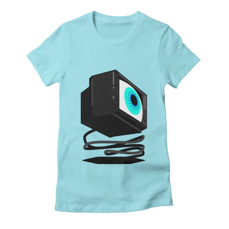 TeeVeeHedron (Staring) Women's Fitted T-Shirt by Sam Arias