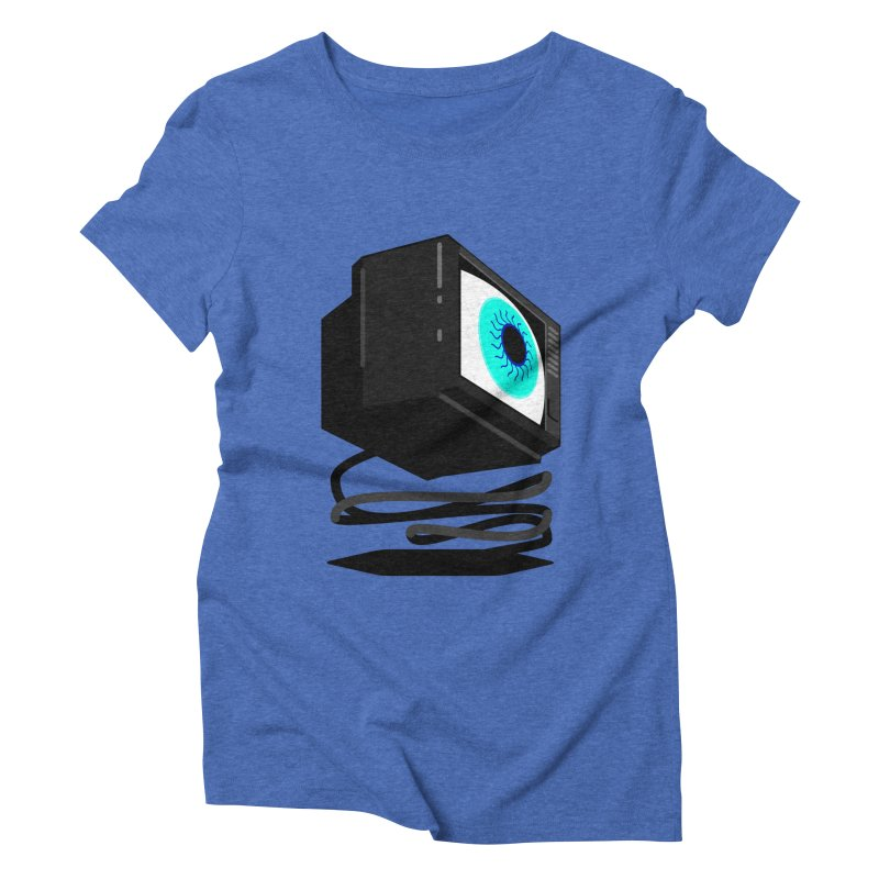 TeeVeeHedron (Staring) Women's Triblend T-shirt by Sam Arias
