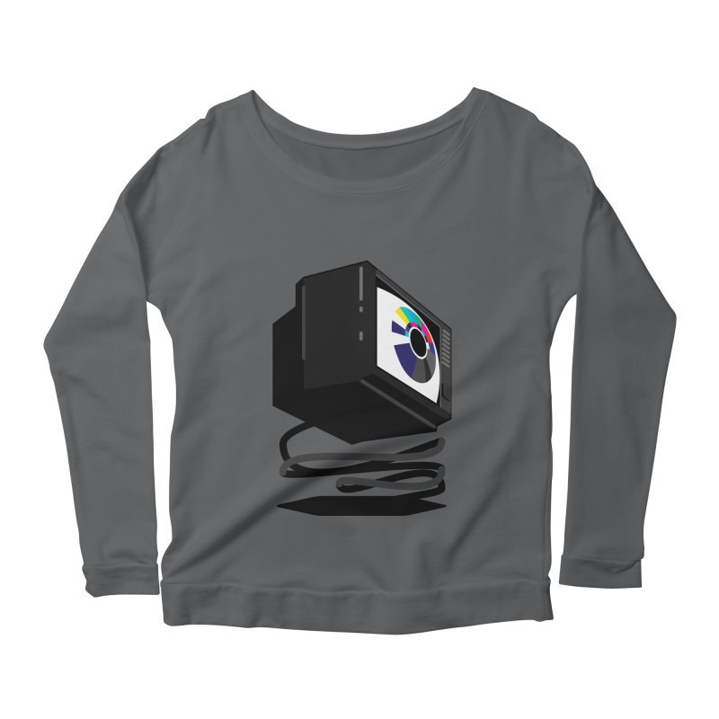 TeeVeeHedron (Blinding) Women's Longsleeve Scoopneck  by Sam Arias
