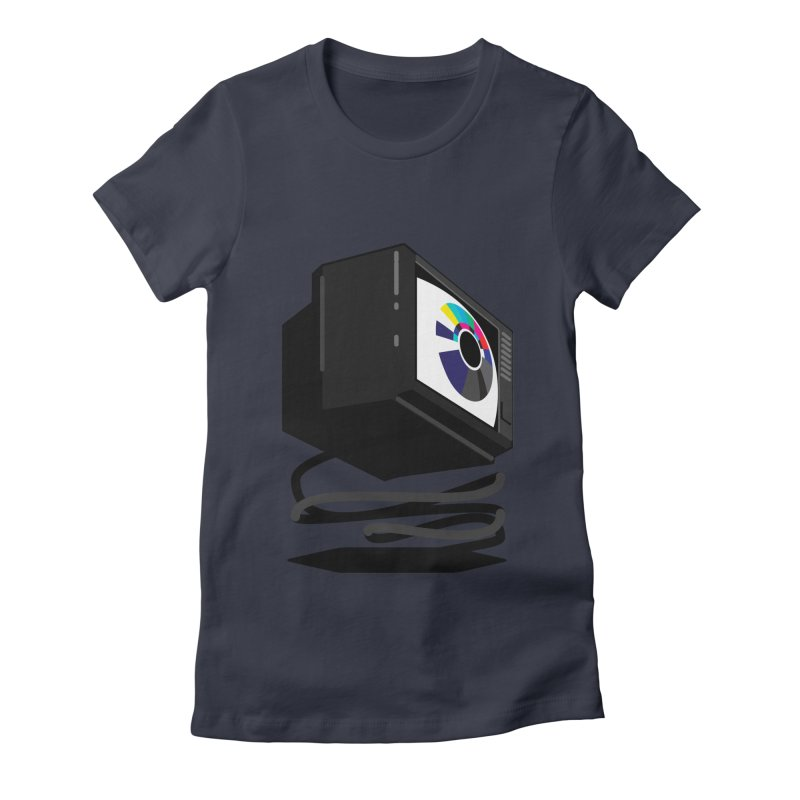 TeeVeeHedron (Blinding) Women's Fitted T-Shirt by Sam Arias