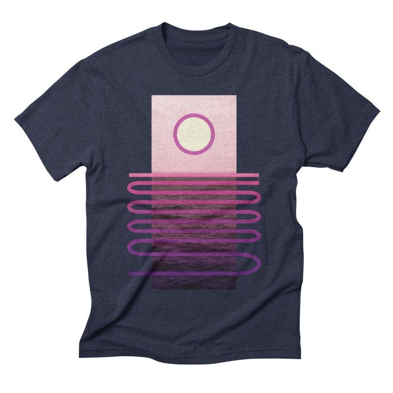 Sunset At Sea Men's Triblend T-shirt by Sam Arias