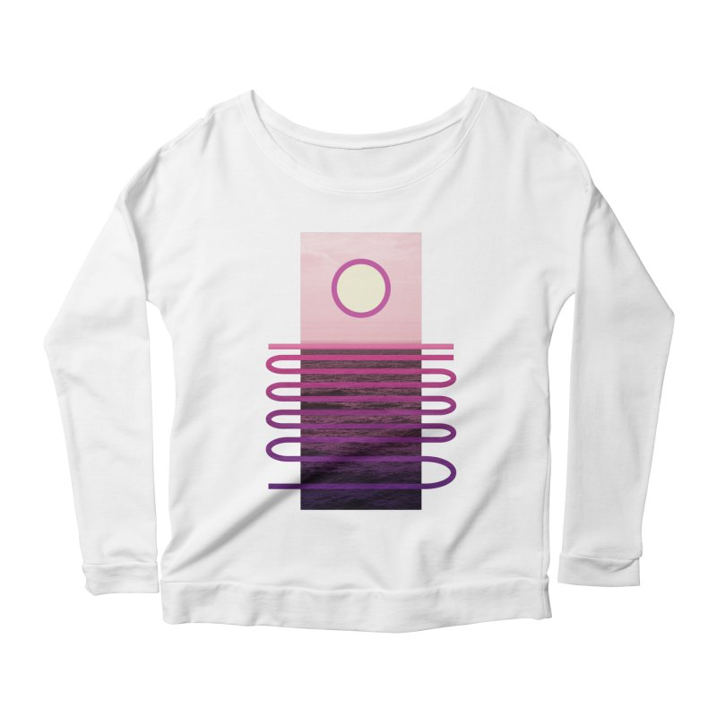 Sunset At Sea Women's Longsleeve Scoopneck  by Sam Arias