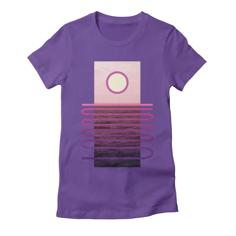 Sunset At Sea Women's Fitted T-Shirt by Sam Arias