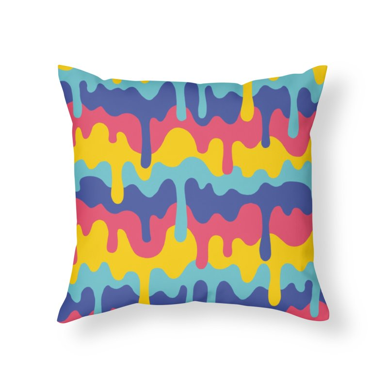 Trippy Drippy! Home Throw Pillow by Spen and Ink