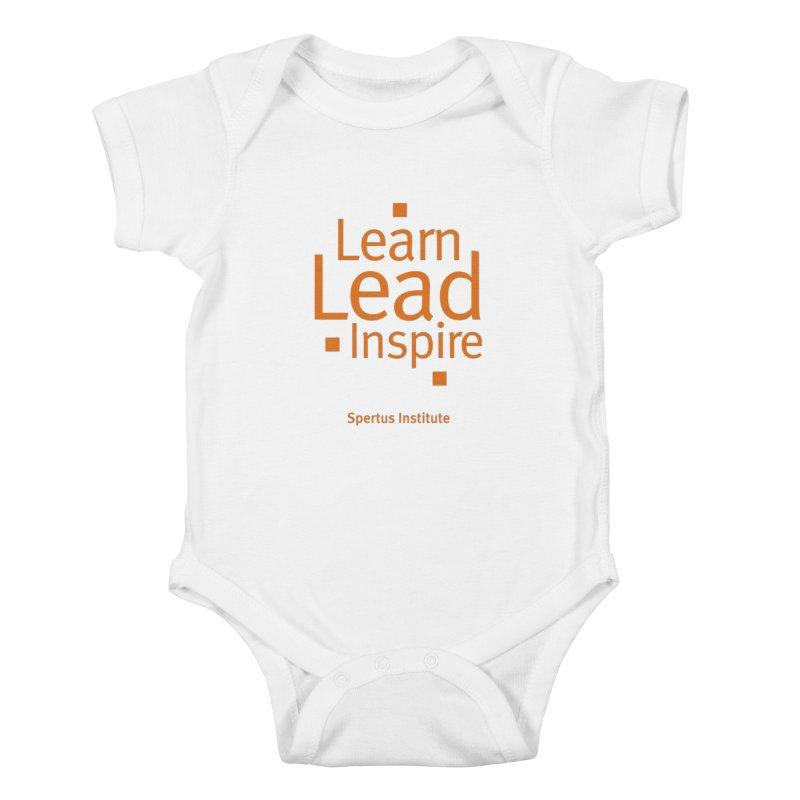 Learn Lead Inspire Orange Kids Baby Bodysuit by Spertus Shop